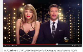 Taylor Swift Ultra Beautiful Sexy *** Pushed Up & KISSING New Years Promo ????