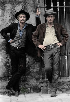 Robert Redford and Paul Newman - 	Butch Cassidy and the Sundance Kid - Colored Picture - x 1