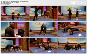 Kelly Ripa web exclusive fitness segment (pokies)