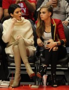 Kendall Jenner, Khloe Kardashian & Cara Delevingne - At the LA Clippers Basketball Game 1/7/15