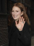 Julianne Moore making an appearance at the Ed Sullivan Theater January 7-2015 x12
