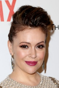 Alyssa Milano, The Weinstein Company & Netflix's Golden Globes Party,L.A 11/01/2015