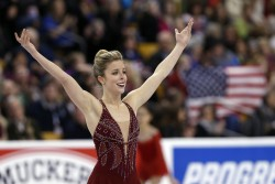 Ashley Wagner wins her third U.S. women's figure skating championship, January 2015