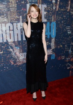 Emma Stone at the SNL 40th Anniversary Special at 30 Rockefeller Plaza in New York, NY on February 15, 2015