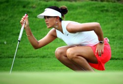 Michelle Wie at the Blue Bay LPGA 2014 in China. 10/22/14 - 10/25/14