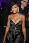 Meagan Good - Elton John AIDS Foundation's Oscar Viewing Party in West Hollywood (2/22/15) Major Cleavage!