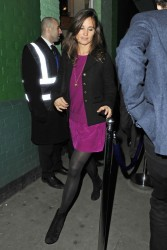 Pippa Middleton very slight pantyhose upskirt exiting the Public Club in Chelsea after a night out 2/17/11
