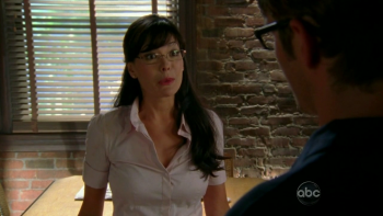 Lindsay Price Eastwick S01E02 booty grab
