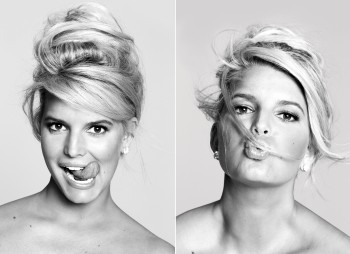 Jessica Simpson Cute Colored Picture - x 1