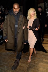 Kim Kardashian - Lanvin Fall 2015 Fashion Show in Paris 3/5/15