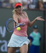 Maria Sharapova 2nd round 2015 BNP Paribas Open at Indian Wells March 14-2015 x2
