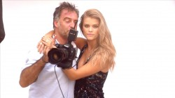 Nina Agdal - Cosmopolitian Cover Shoot : Behind the Scenes  - 2014