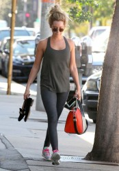 Ashley Tisdale - Going to the gym in West Hollywood 3/23/15