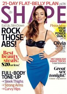 Olivia Wilde Shape USA 2015 April