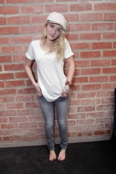 Emily Osment - Skinny Jeans and Barefoot