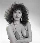 Marina Sirtis - 1986 BTS 'Room at the Bottom' B&W Bikini Photoshoot x6 (lq)