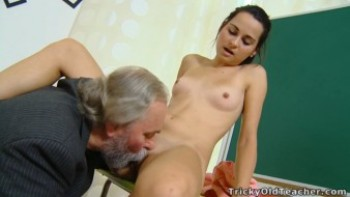 czech student fucked in classroom by her old horny teacher